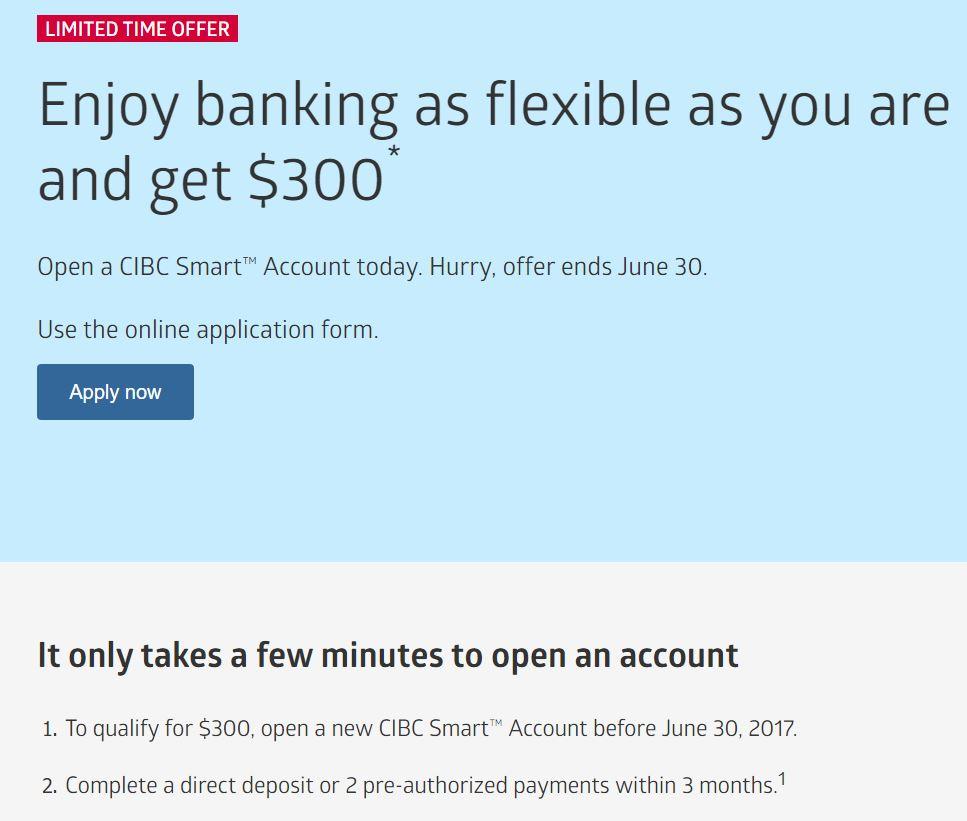 RBC和CIBC开户奖励开始了