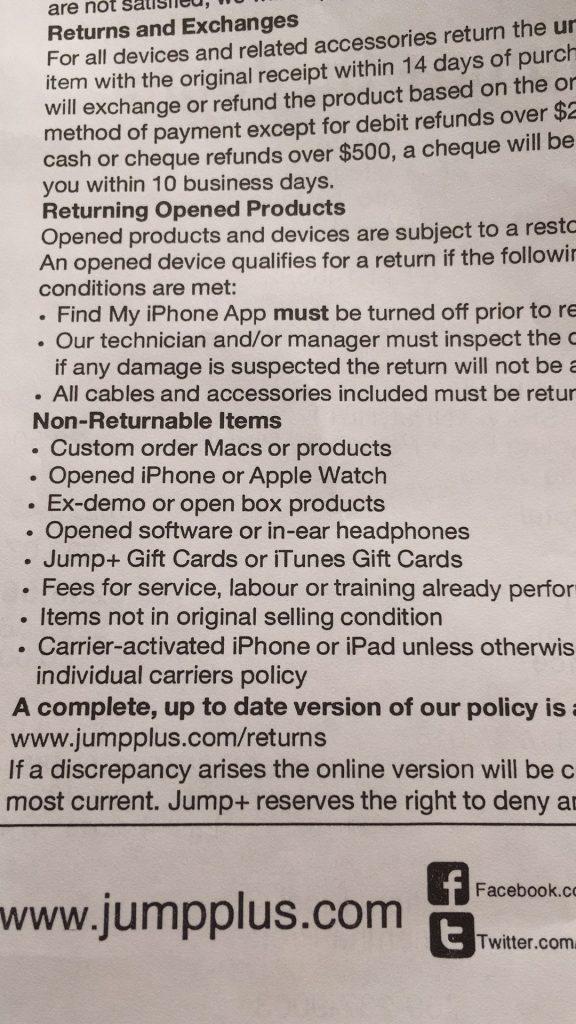 慎去Jump+购买苹果产品