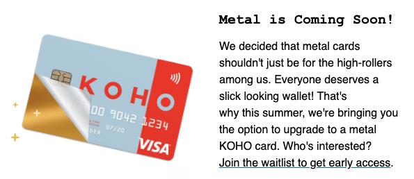 五分钟免费注册KOHO Prepaid Visa拿现金奖励