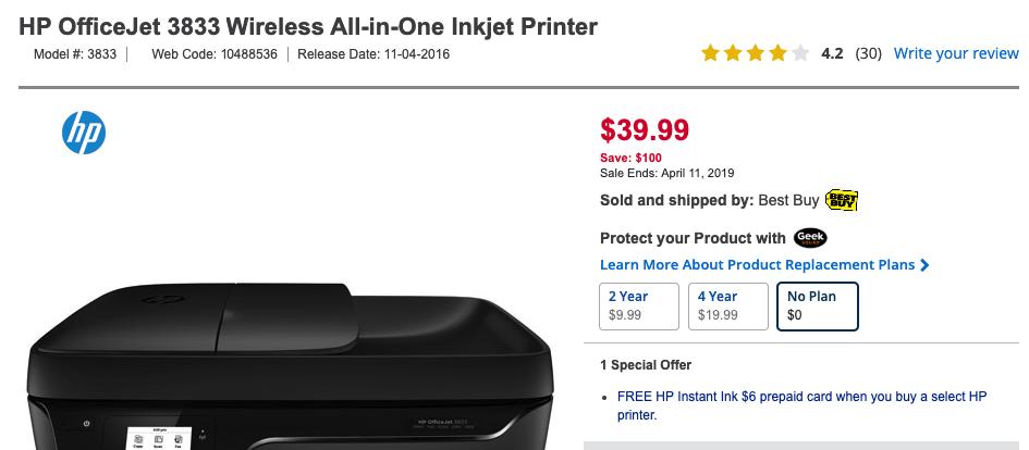 使用HP Instant Ink每月免费打印15张