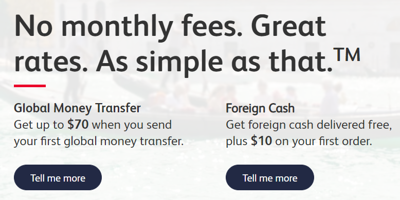 首次使用Simplii Financial国际汇款/购买外币现钞的现金奖励